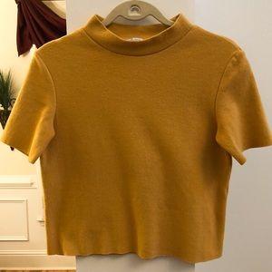 ZARA Short Sleeve Crop Sweater